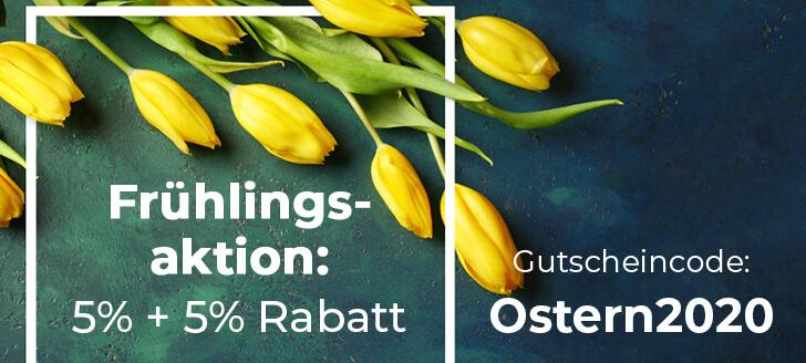 Wir versüßen Ihnen den Frühling mit unserer Frühlingsaktion: 5 + 5 % auf alle Esstische!