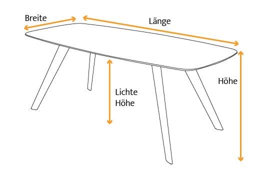 Tischmaße Esstisch Jomar